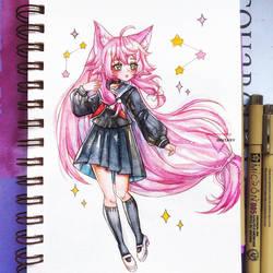 Watercolor chibi gift