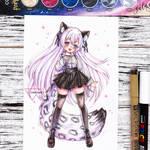 Watercolor chibi CM - Shirayuki