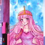 Watercolor art Princess Bubblegum - Adventute Time by Inntary