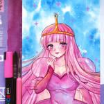 Watercolor art Princess Bubblegum - Adventute Time by Inntary