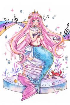 Mermay watercolor mermaid - Lovesong