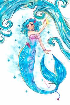 Mermay watercolor mermaid - Spell