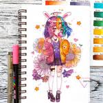 Watercolor chibi DTIYS by Inntary