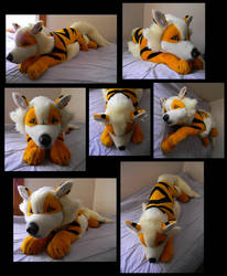Arcanine Cuddle Attack Now by SarityCreations