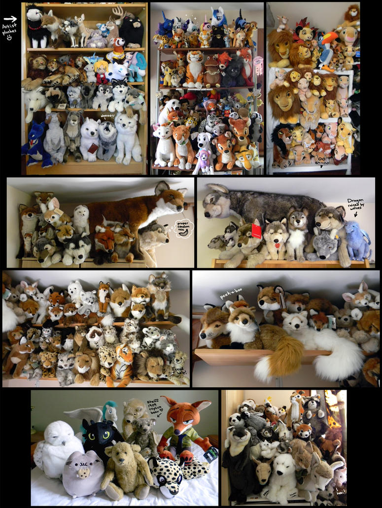 My Whole Damn Plush Collection by SarityCreations