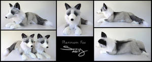 25 inch Platunim Fox by SarityCreations