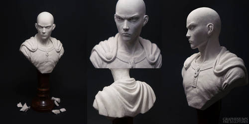 Saitama (One Punch Man) Sculpture by Graphesium
