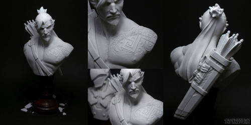 Hanzo (Overwatch) Sculpture - Bust by Graphesium