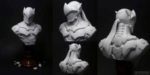 Genji (Overwatch) Sculpture by Graphesium