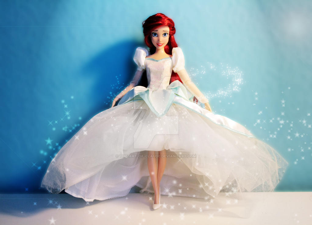 Disney Ariel Doll Repaint #2 | Dressed In White by claude-on-the ...