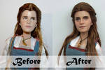 Disney LA Belle Doll Repaint | Before - After