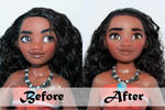 Disney Moana/Vaiana Doll Repaint | Before - After