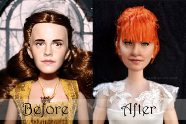Hayley Williams Wedding Doll Repaint|Before-After2 by the-art-of-claude