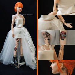 Hayley Williams Wedding Doll Repaint | Tattoos by the-art-of-claude