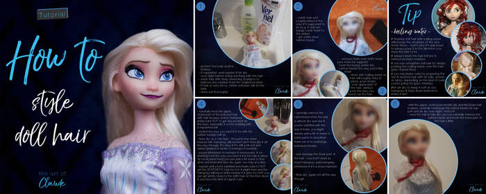 Tutorial: How to style doll hair   Snow Queen Elsa
