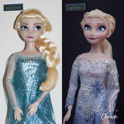 Dive Down Deep | Elsa Doll Repaint