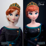 Queen Anna of Arendelle | Disney Doll Repaint by the-art-of-claude