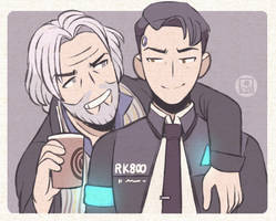 Hank and Connor by LostiPants