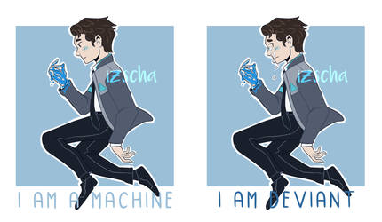 Connor (Detroit: Become Human) by izschawastaken