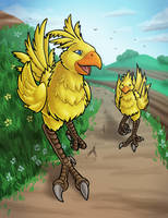 Chocobos with Speed Drawing!