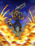Roket Raccoon with Speed Drawing!