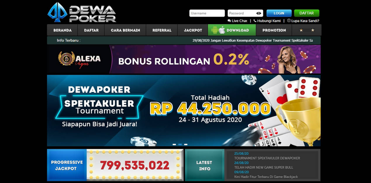 Homepage By Dewa Poker On Deviantart