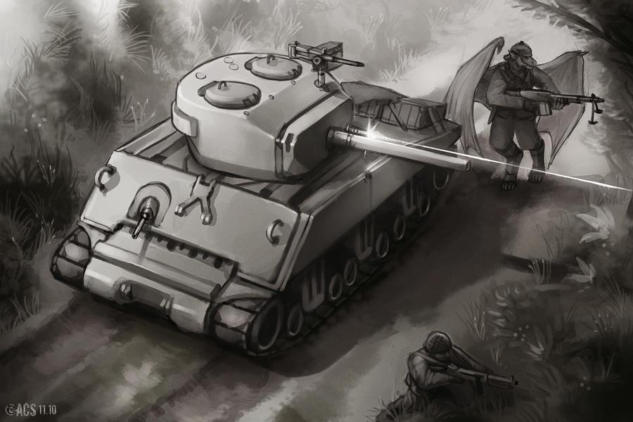 Jumbo on Patrol by Lionel23