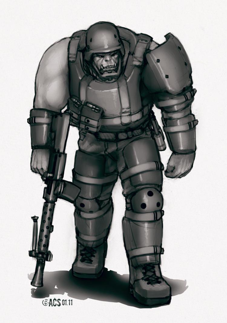 Black Orc Shocktrooper by Lionel23