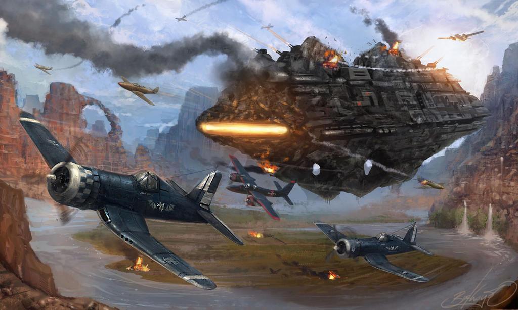 Defiler Dreadnought Air Raid by Lionel23
