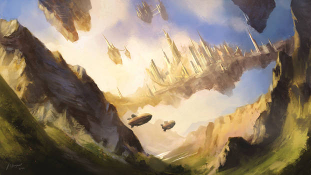 Alkirian Sky City - Floating City of the Empire