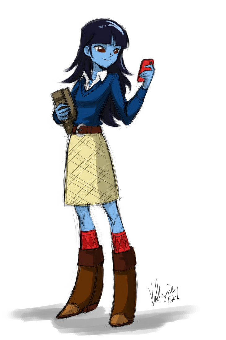 Lady Snow - Equestria Girls style by Lionel23