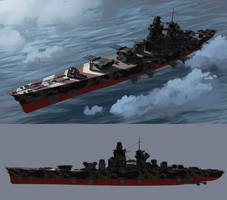 Imperial Central Authority Super Heavy Battleship by Lionel23