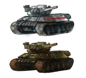 Reichland (ICA)  Medium Tank - T34-85 ERA by Lionel23