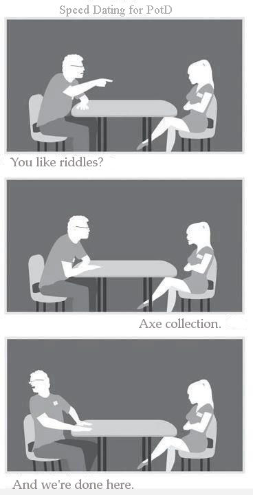 Speed Dating for PotD - Axe Me Anything