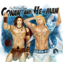 Conan and He-man by Jacy-j