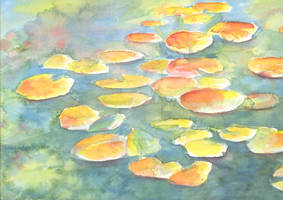 Lilly Pads- Watercolor Plain Air Painting