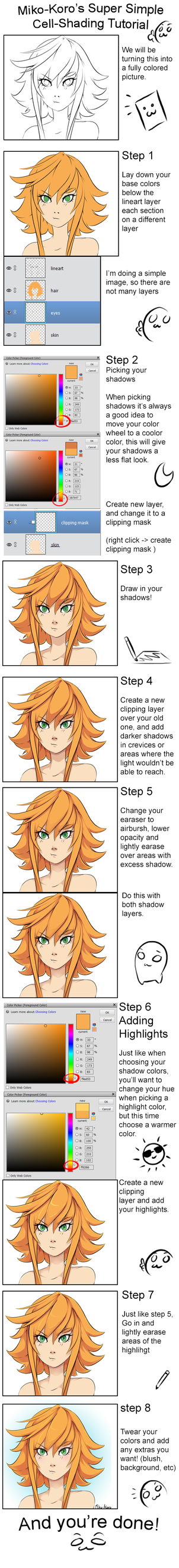 Super Simple Cell Shading Tutorial by Miko-Koro