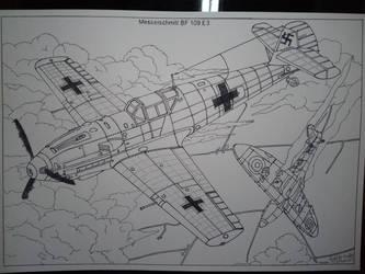 Messerschmitt Bf 109 by AbsurdBR