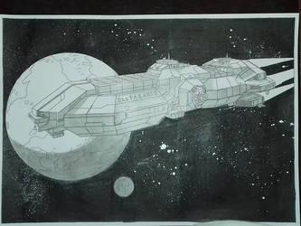 cargo spaceship by AbsurdBR