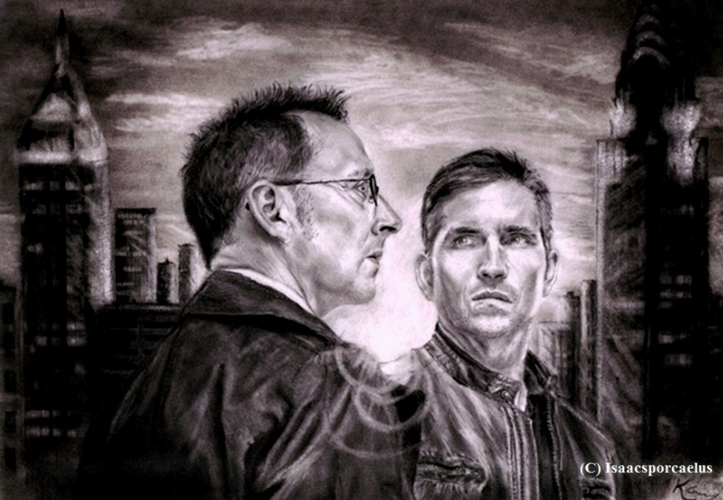 Finch and Reese at Sunset. Person of Interest. by Isaacsporcaelus