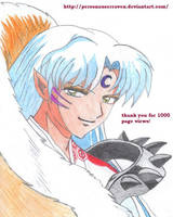 Sesshomaru smiles by PersonaUserRaven