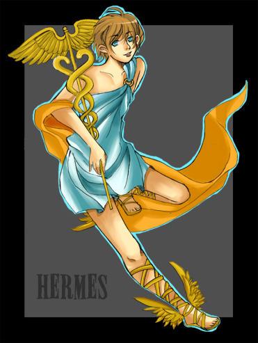 how to draw hermes greek god