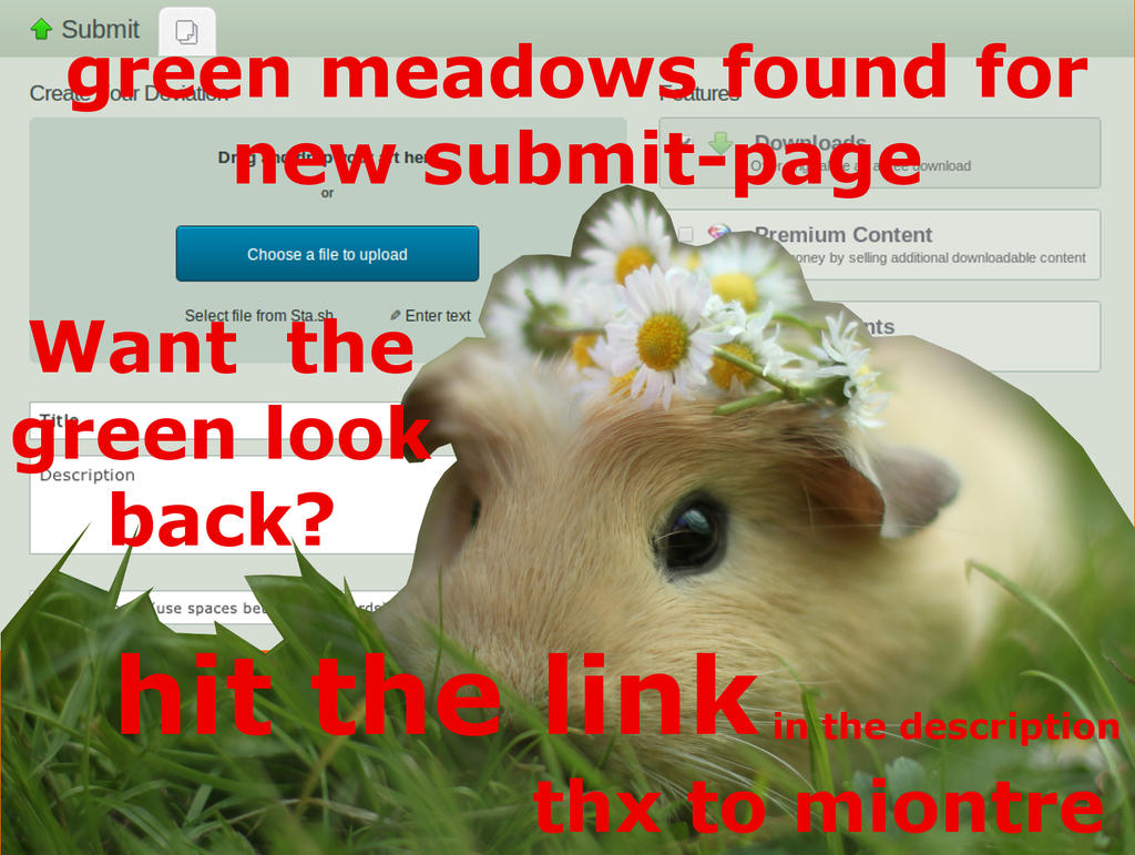 new submit page GREEN skin by MsLissome