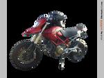 Ducati Hypermotard 1100 left - STOCK