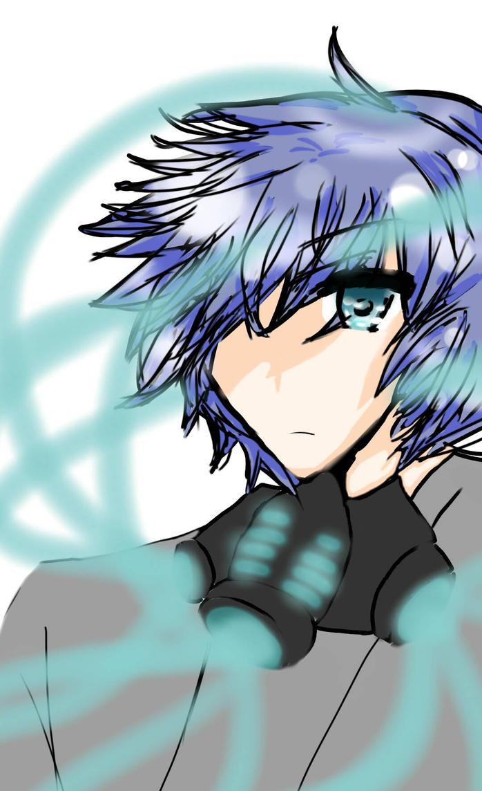 mcp as An Anime Boy (Mr. Creepypasta) by APPLE-NYAN6