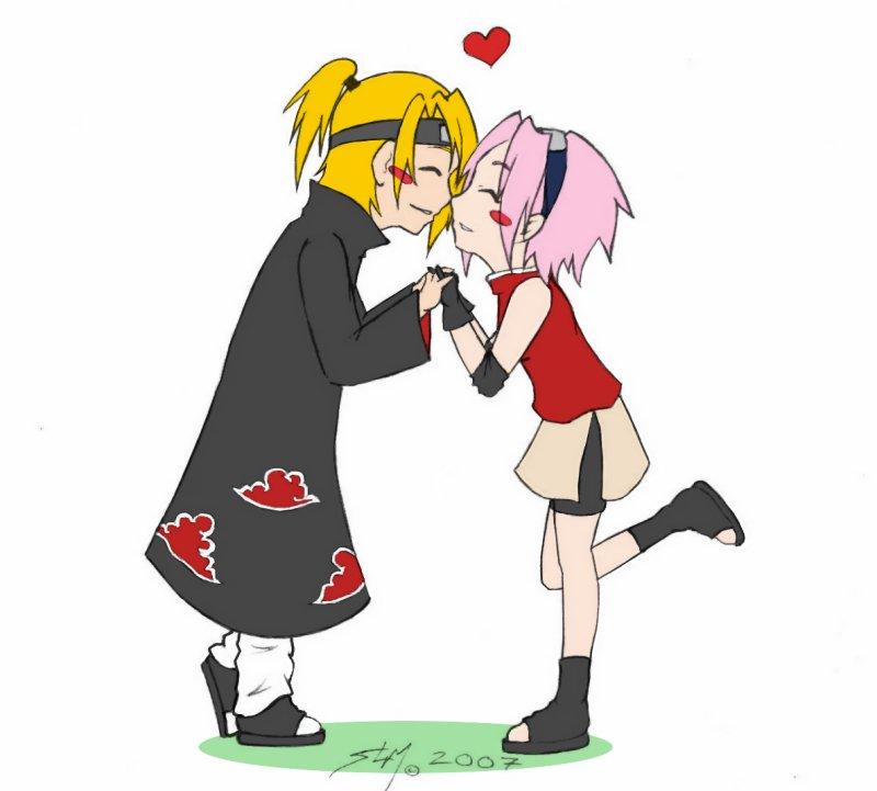 Sakura N Deidara Chibi Love By Rossilyn On Deviantart