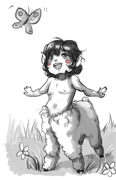 Alpacataur Sketch Commission by Rossilyn