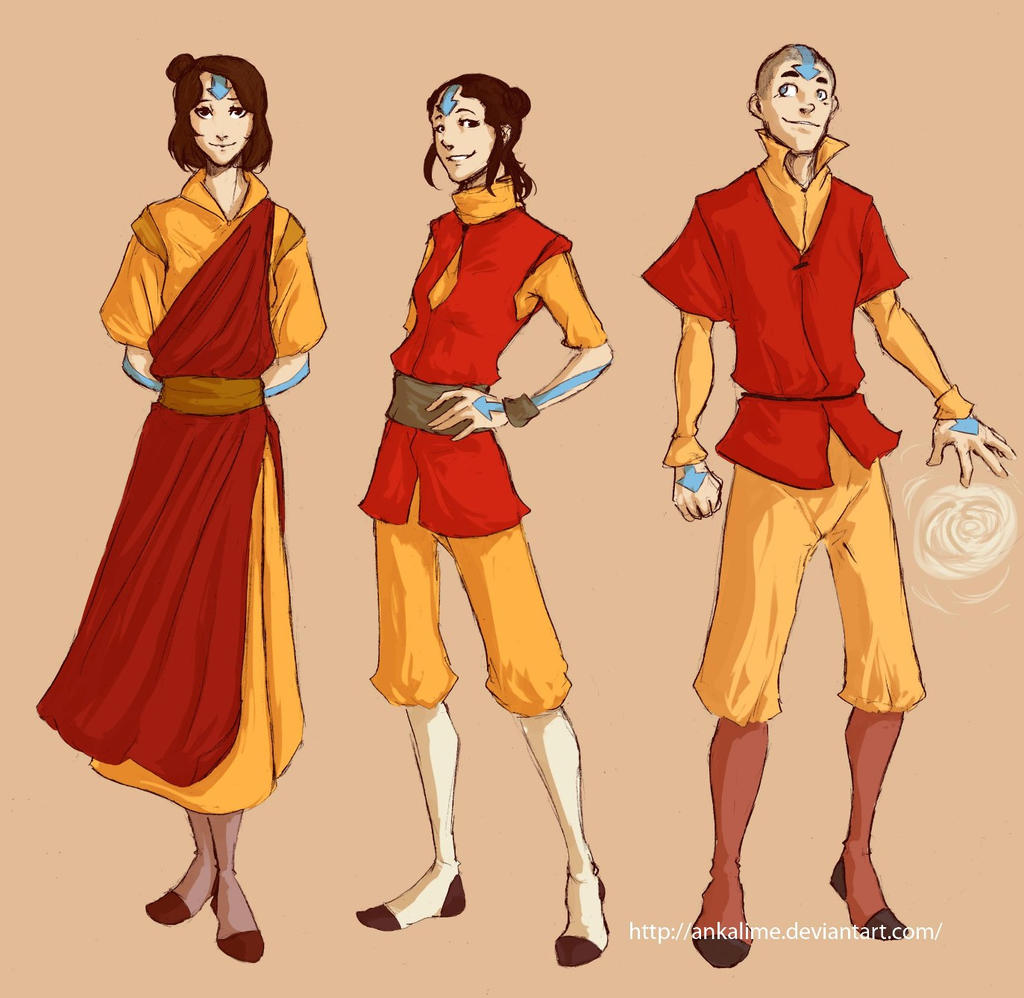 Avatar The Last Airbender Characters Grown Up With Kids