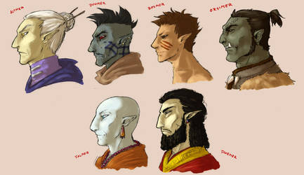Elf races of Tamriel by ankalime