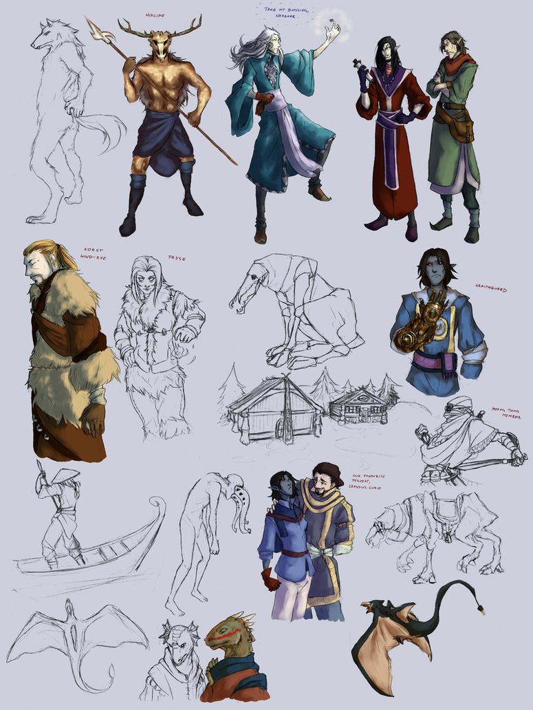 The Elder Srolls sketchdump 3 by ankalime